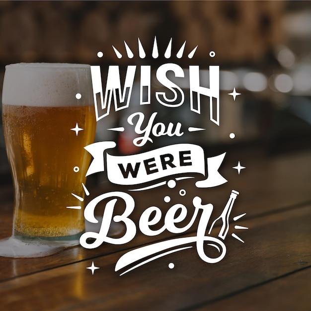 Letras de dia internacional da cerveja com foto Vetor grátis
