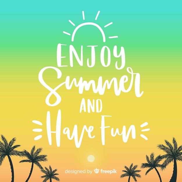 Letras de verão colorido Vetor grátis