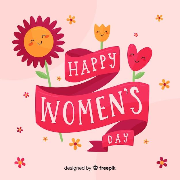 Letras do dia das mulheres Vetor grátis