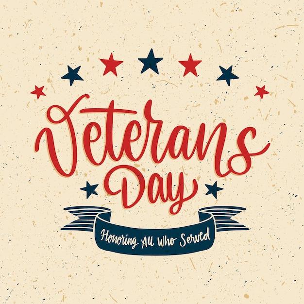 Letras do dia dos veteranos Vetor grátis