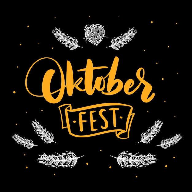 Letras festival oktoberfest Vetor grátis