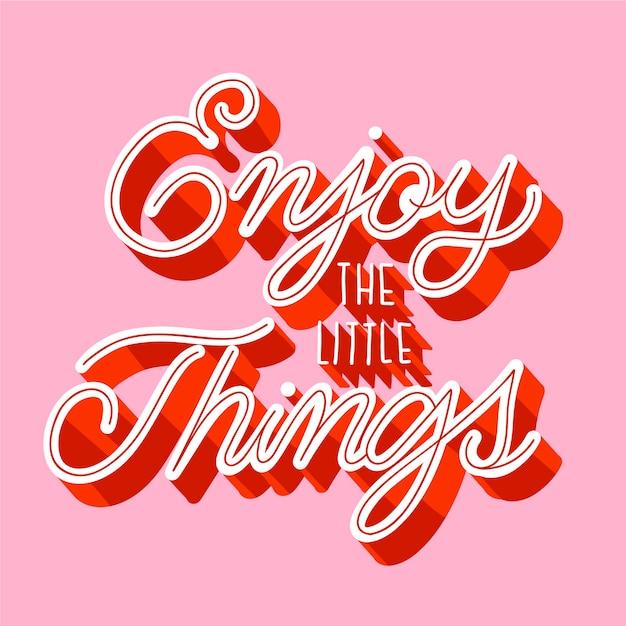 Letras positivas em estilo vintage Vetor grátis