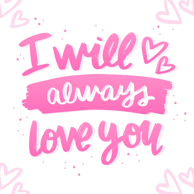 Letras românticas para dia dos namorados Vetor grátis
