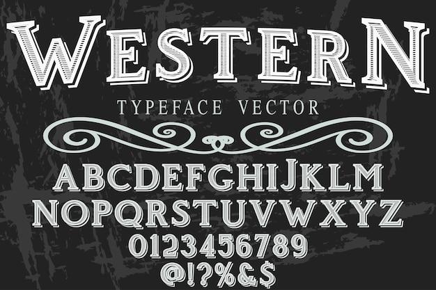 Letras tipo ocidental Vetor Premium