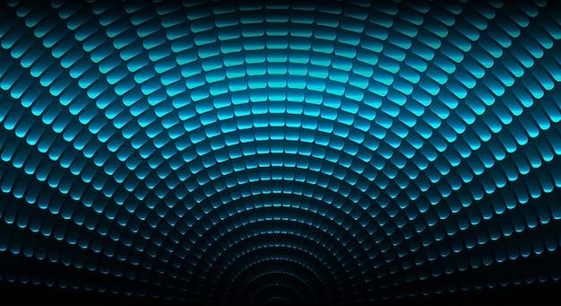 Levou tela de cinema para apresentação de filmes. cemicircle rotate light abstract Vetor Premium