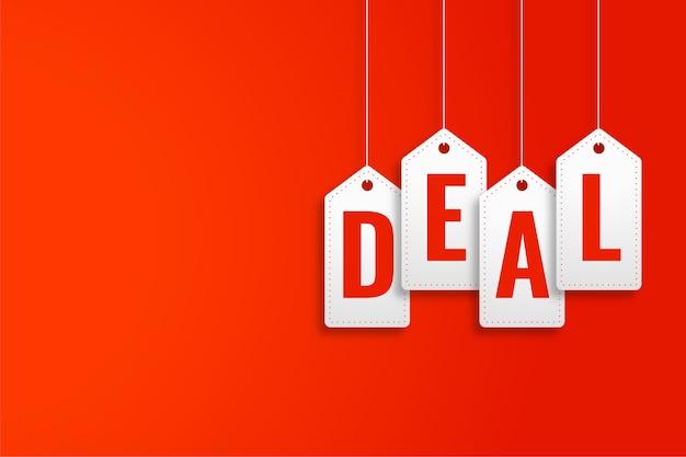 Lide banner promocional no estilo etiqueta de preço suspensa Vetor grátis