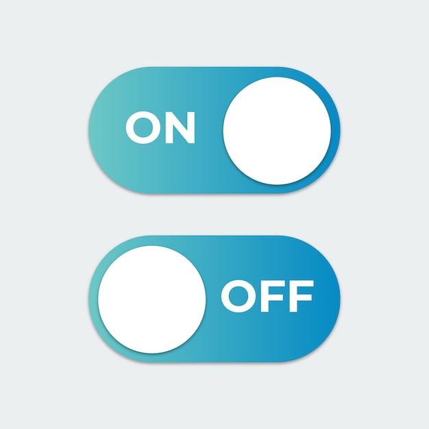 Liga ou desliga o botão do interruptor Vetor Premium