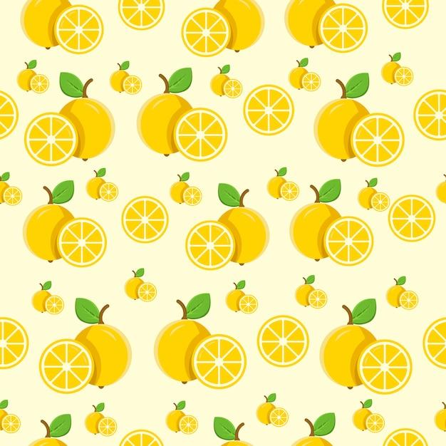 Limão padrão sem emenda Vetor Premium