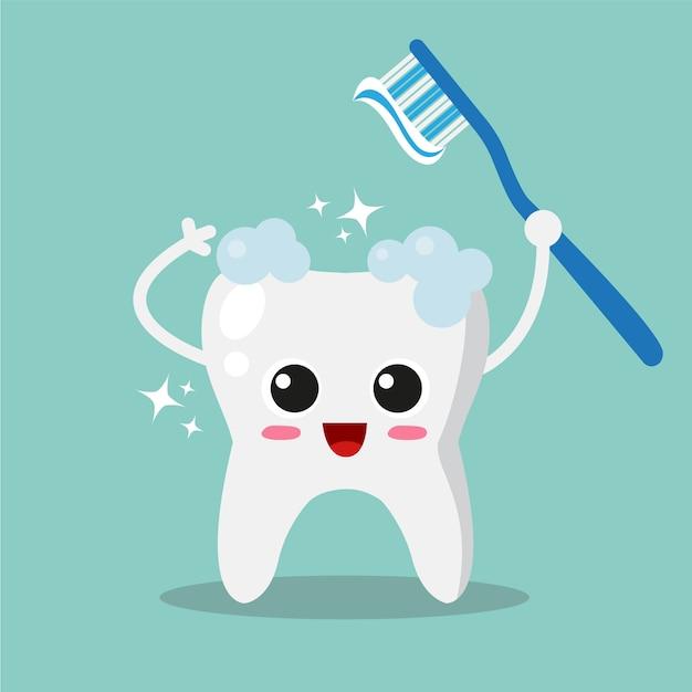Limpar, dente, fundo Vetor grátis