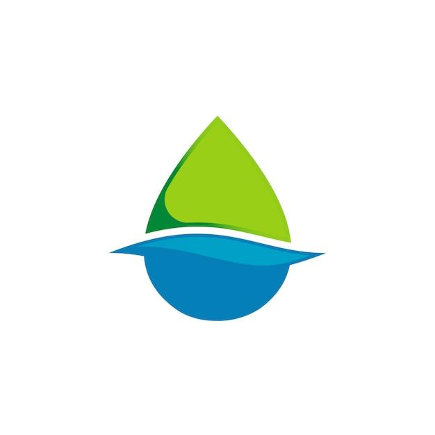Limpar o logotipo da gota de água Vetor Premium