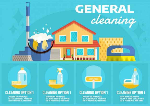 Limpeza geral Vetor Premium