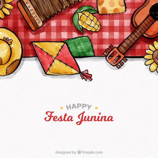 Linda composição junina festa junina Vetor grátis