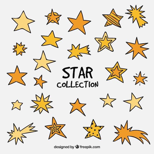 Lindas estrelas definidas Vetor grátis