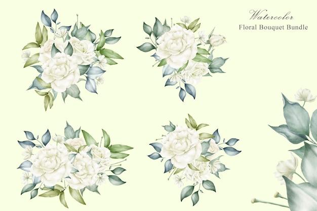 Lindo arranjo floral para convite de casamento Vetor Premium