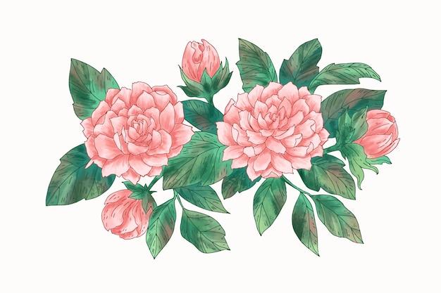 Lindo buquê floral vintage Vetor grátis