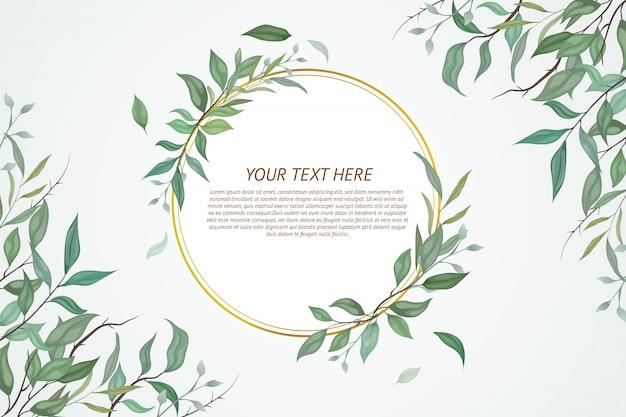 Lindo cartão com design floral. Vetor Premium