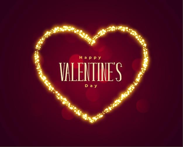 Lindo dia dos namorados com fundo de coração brilhante Vetor grátis