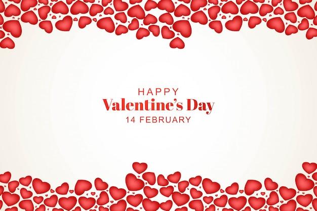 Lindo feliz dia dos namorados com corações decorativos Vetor grátis