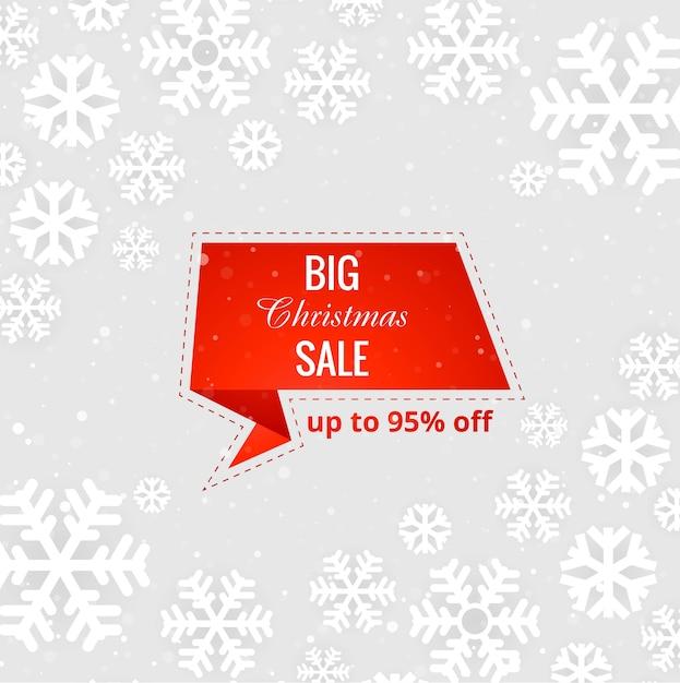 Lindo feliz natal grande venda de fundo vector Vetor grátis