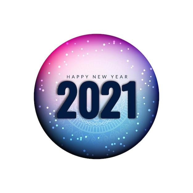 Lindo fundo de saudação de feliz ano novo 2021 Vetor grátis