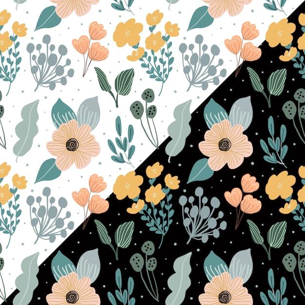 Lindo padrão floral sem emenda Vetor Premium