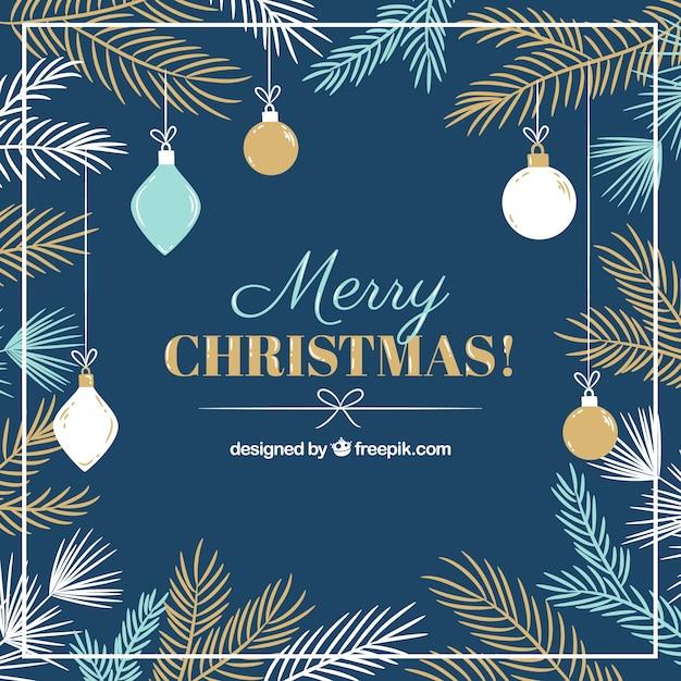 Lindos fundos decorativos de feliz natal Vetor grátis
