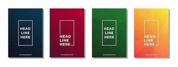 Linha abstrata de fundo para capa de brochura de negócios Vetor Premium