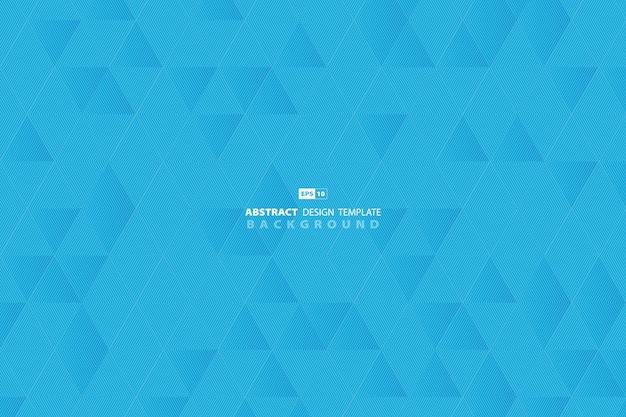 Linha céu azul abstrato fundo do negócio do triângulo do teste padrão da tecnologia. Vetor Premium