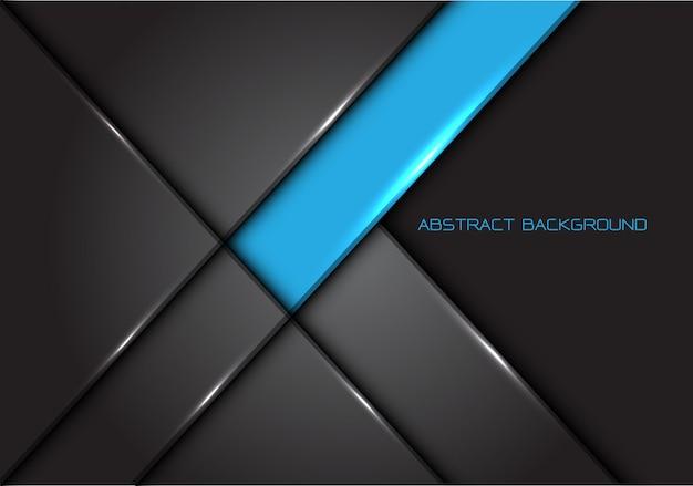 Linha cinza azul fundo lustroso do metal. Vetor Premium
