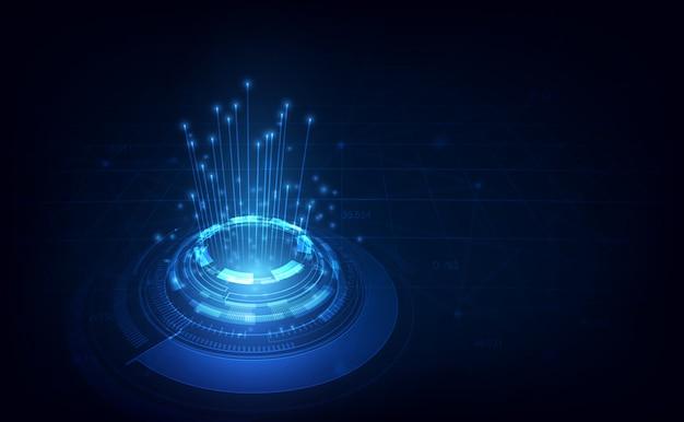 Linha de conexão no conceito de telecomunicações de rede Vetor Premium