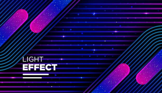 Linha de cor abstrata com efeito de gradiente e luz Vetor Premium