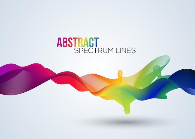 Linha de espectro abstrata em vetor Vetor Premium