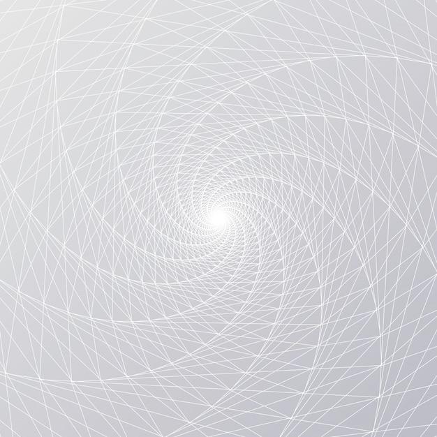 Linha de malha espiral radial Vetor Premium