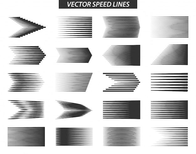 Linha de velocidade simples diferente efeitos de movimento Vetor Premium