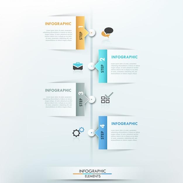 Linha do tempo moderna infográfico Vetor Premium