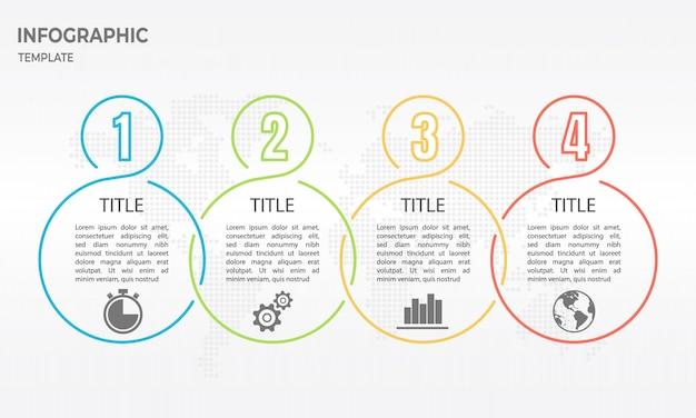 Linha do tempo timeline design de linha fina Vetor Premium