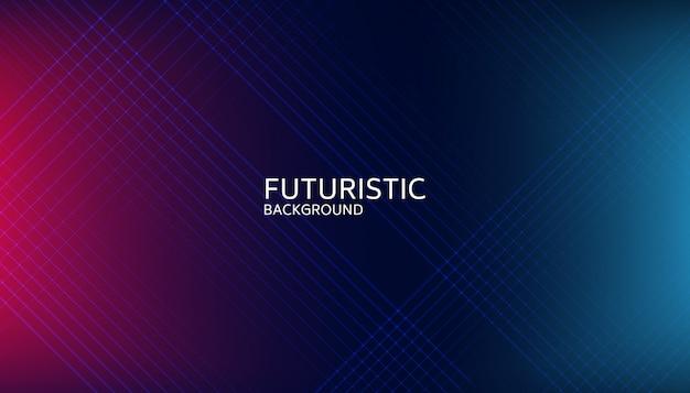 Linha futurista abstrata fundo futurista Vetor Premium