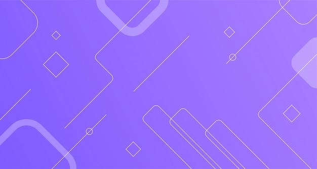 Linha geométrica dinâmica forma design limpo abstrato moderno Vetor Premium