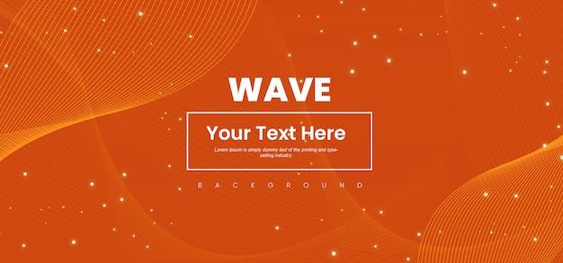 Linha onda abstrata fundo colorido Vetor Premium