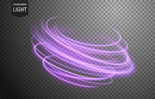 Linha ondulada violeta abstrata de luz Vetor Premium