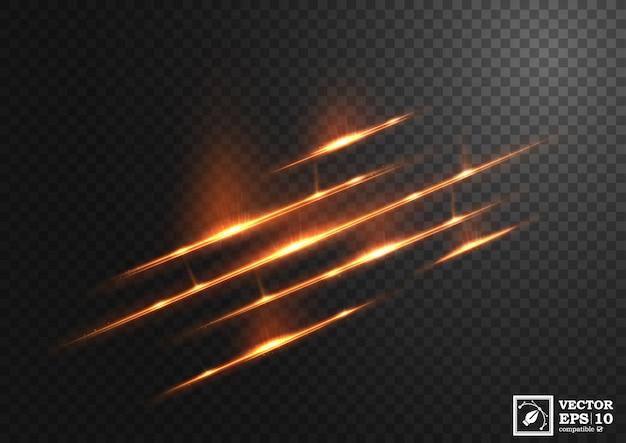 Linha ouro abstrata de luz Vetor Premium