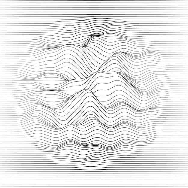 Linhas borradas onduladas Vetor grátis