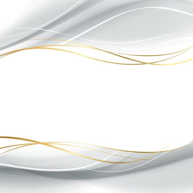 Linhas brancas suaves de luz. Vetor grátis