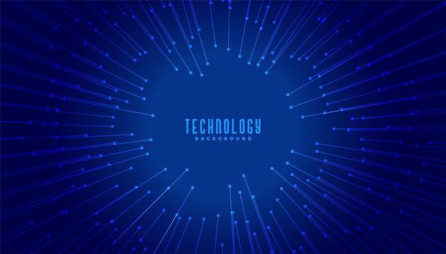 Linhas de conceito de big data de tecnologia com foco no centro Vetor grátis