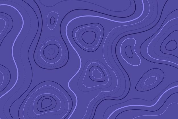 Linhas de contorno azul do mapa topográfico Vetor grátis