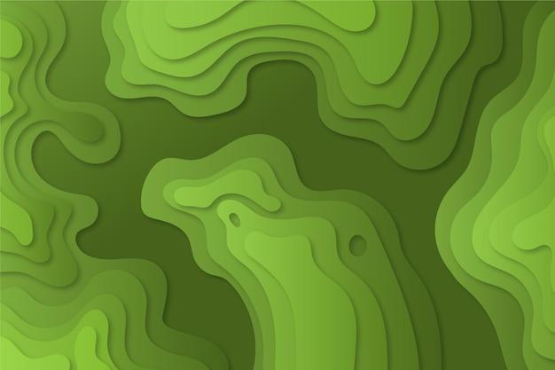 Linhas de contorno do mapa topográfico tons de verde Vetor grátis