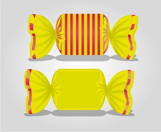 Linhas de embalagem coloridas quadradas doces Vetor Premium