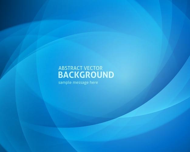 Linhas de luz azuis abstratas Vetor Premium