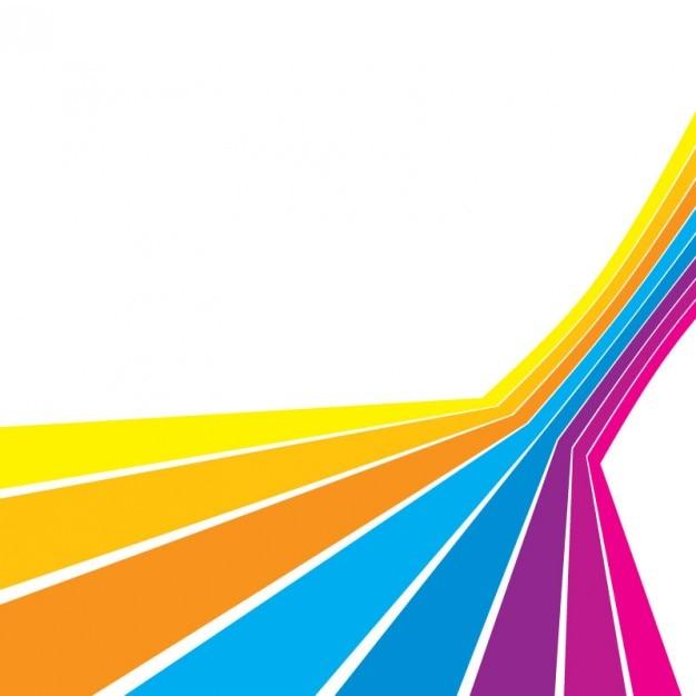 Colour Line Art Design : Linhas de multi coloridas com retas no fundo branco