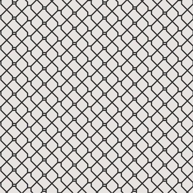 Linhas geométricas abstratas sem costura de fundo com preto e branco Vetor Premium
